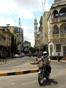 Downtown Dar es Salaam, on the eastern coast and Indian Ocean.