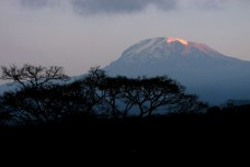 Mt. Kilimanjaro, highest point in Africa at 19,341 ft (5,895 m)