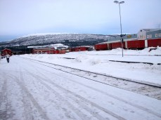 """Fauske, Norway train depot, from """"Head South for the Winter"""""""