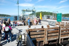"""Ferry dock in Friday Harbor, Washington from """"Never Hitchhike"""""""