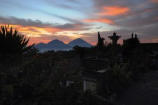 Mt. Agung and Mt. Abang, Bali.