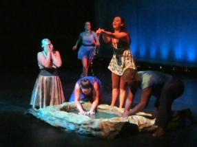 """""""Water Wars', featuring the ensemble. We have also been able to go on a mini """"tour"""" or sorts and performed the show throughout CT including here at Housatonic Community College."""