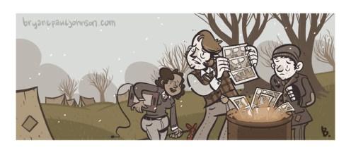 Cover illustration for the web magazine Comixtalk