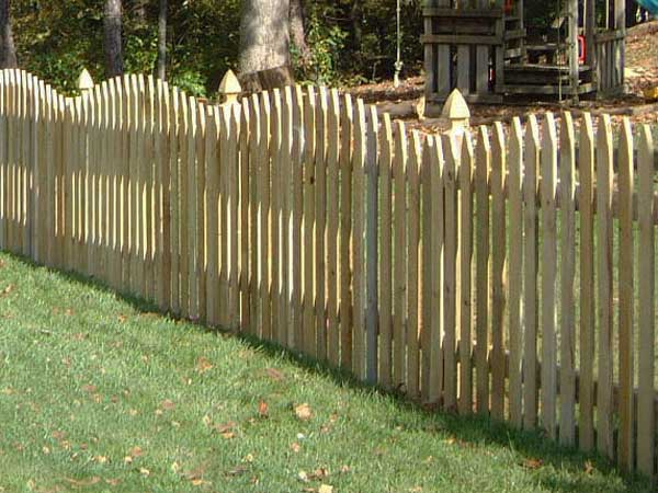 Picket Wood Fence  Bryant Fence Company
