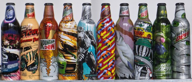 mountain dew art bottles