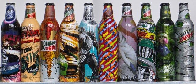 mountain dew art bottles