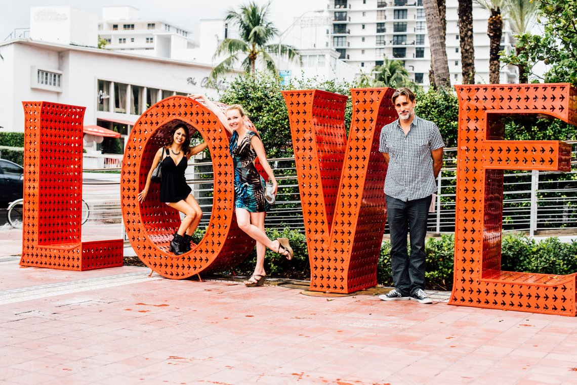 Love sculpture with Sandi Kitsteiner, SuzyMae and Michael Torquato DeNicola