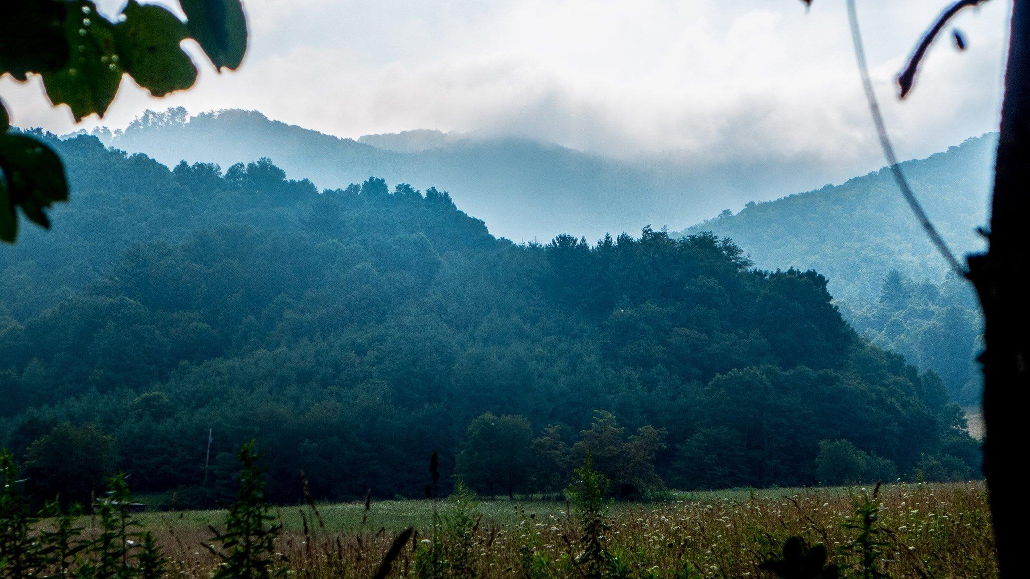 Mountain City Sunrise in the fog, Bryan Thatcher