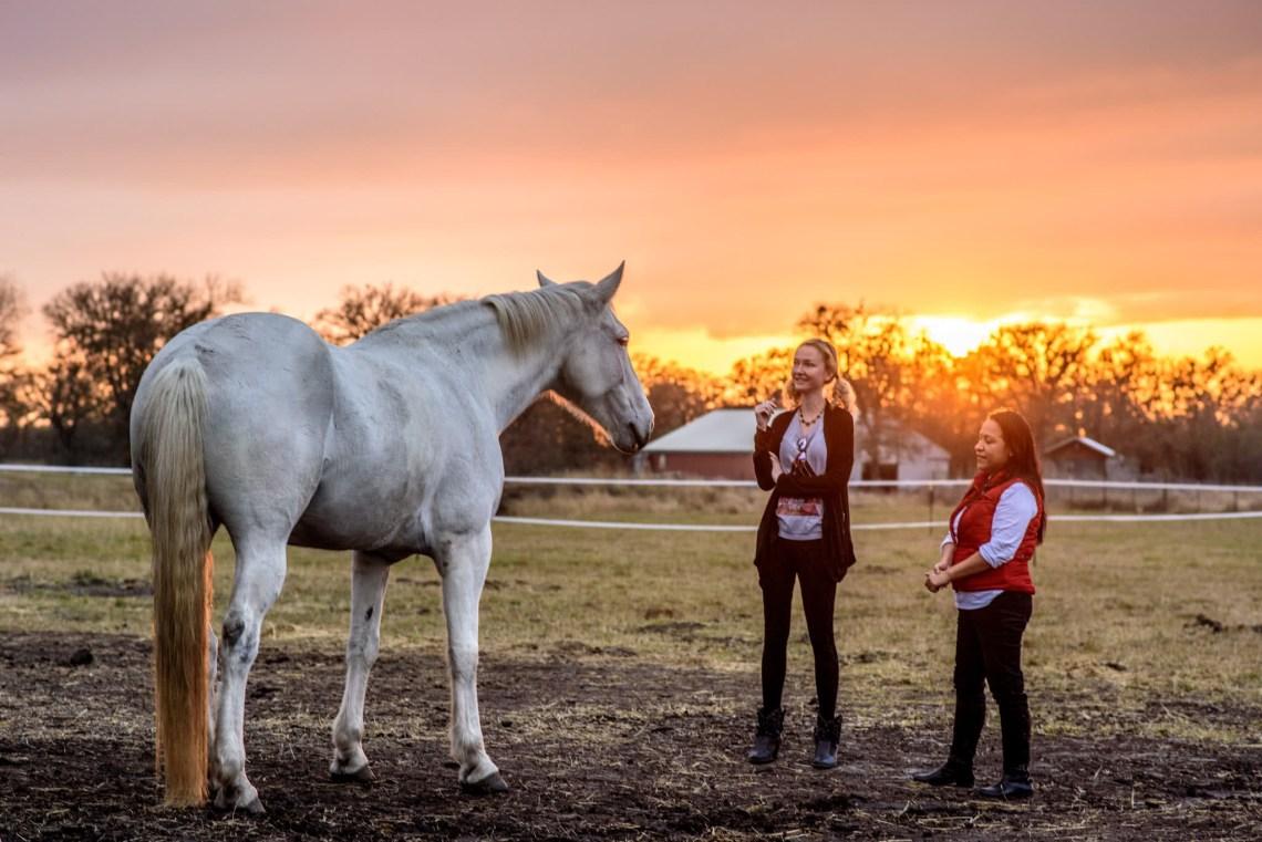 SuzyMae and Silvia horse