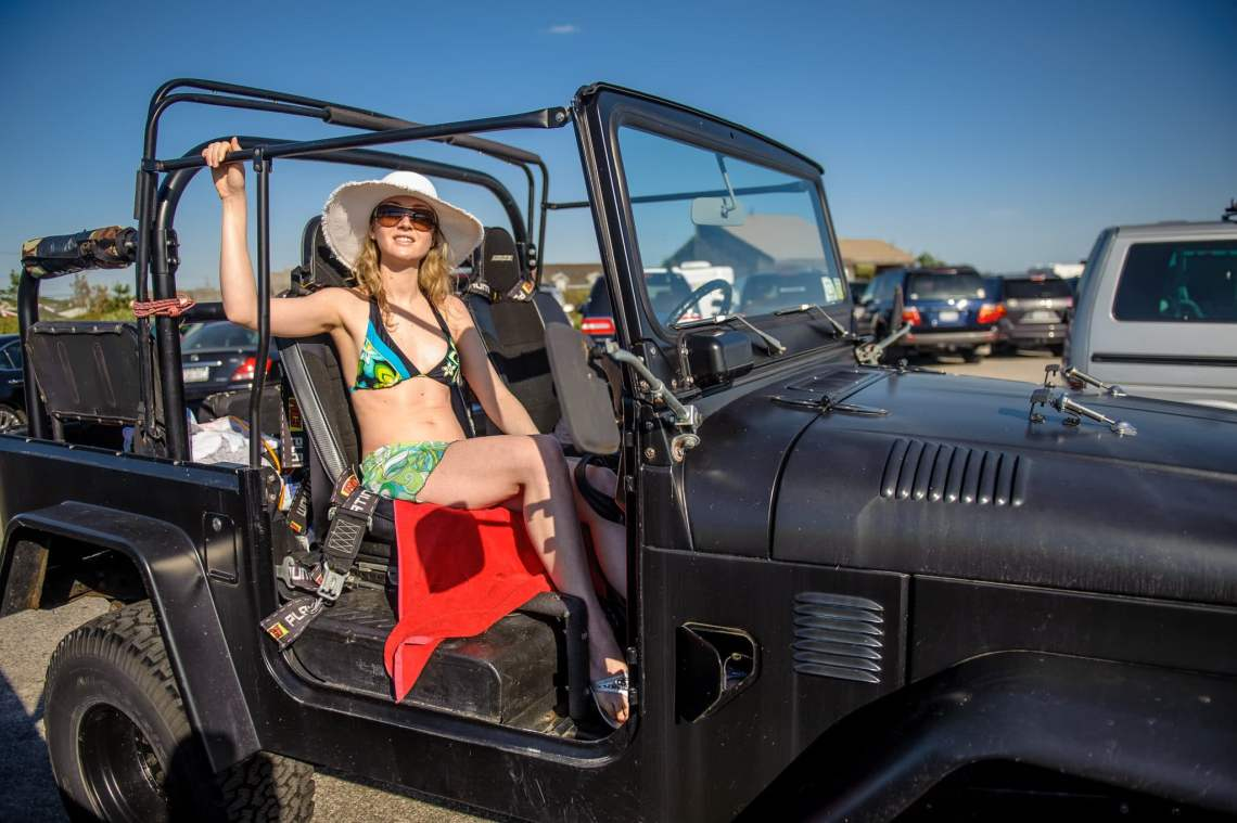 SuzyMae in the Land Cruiser