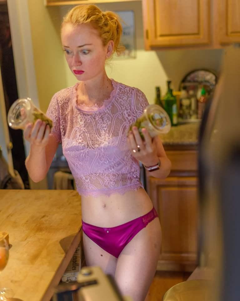 SuzyMae in lingerie