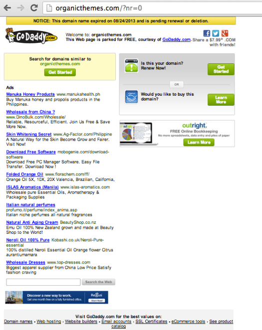 OrganicThemes.com Expired