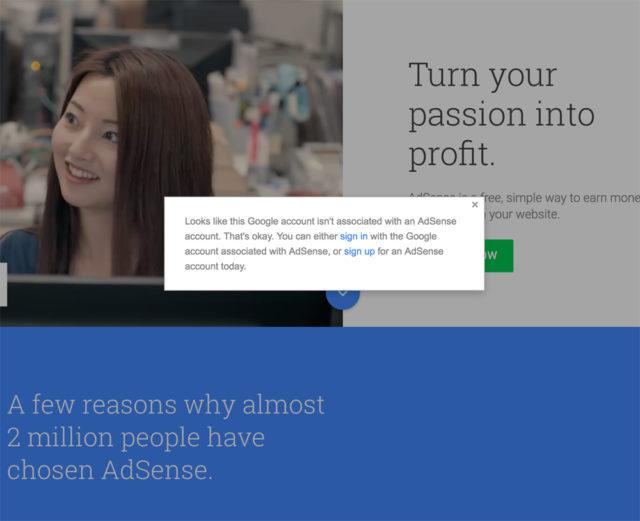 adsense-cannot-login