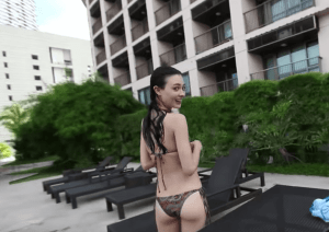 Cora Waddell Bikini pic back view