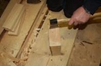 Avkapp fra gulvet brukes som treplugger