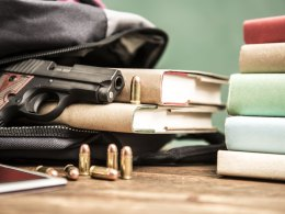 School Threats - Gun, Bullets, and Books