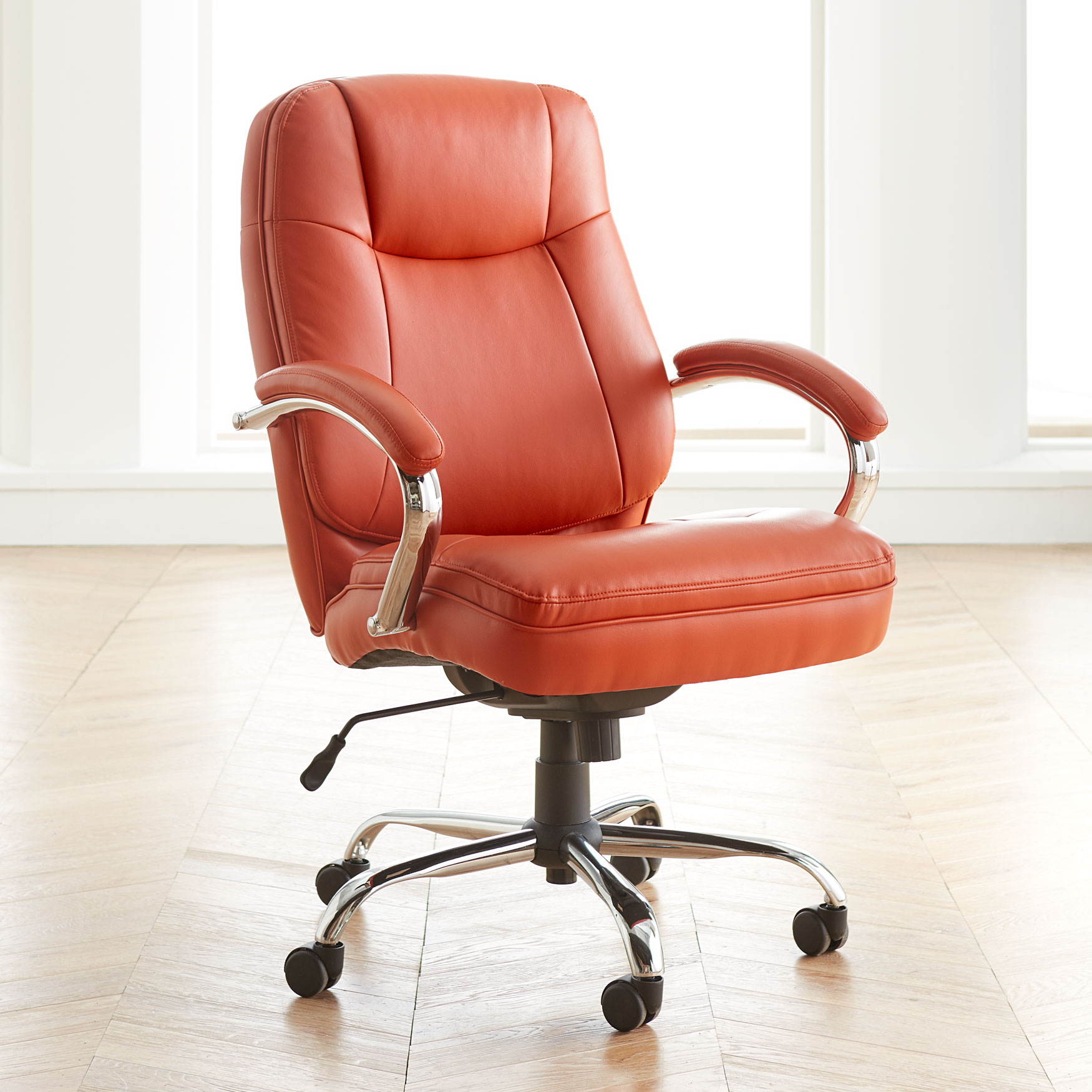 Orange Office Chairs Extra Wide Woman S Office Chair