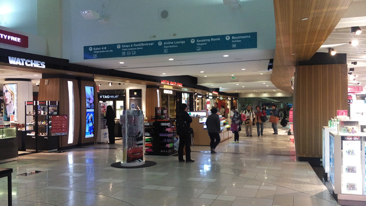 Lotte Duty Free inside Guam's Airport - BRYOLOGUE