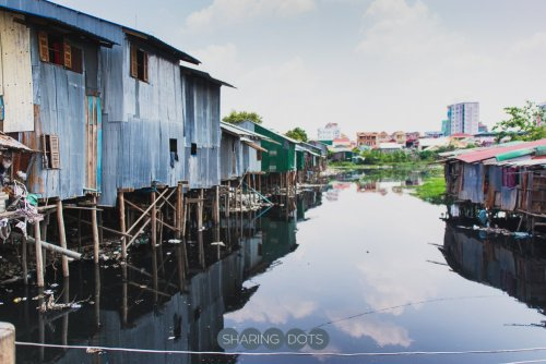 One of the many slums in Phnom Penh Cambodia