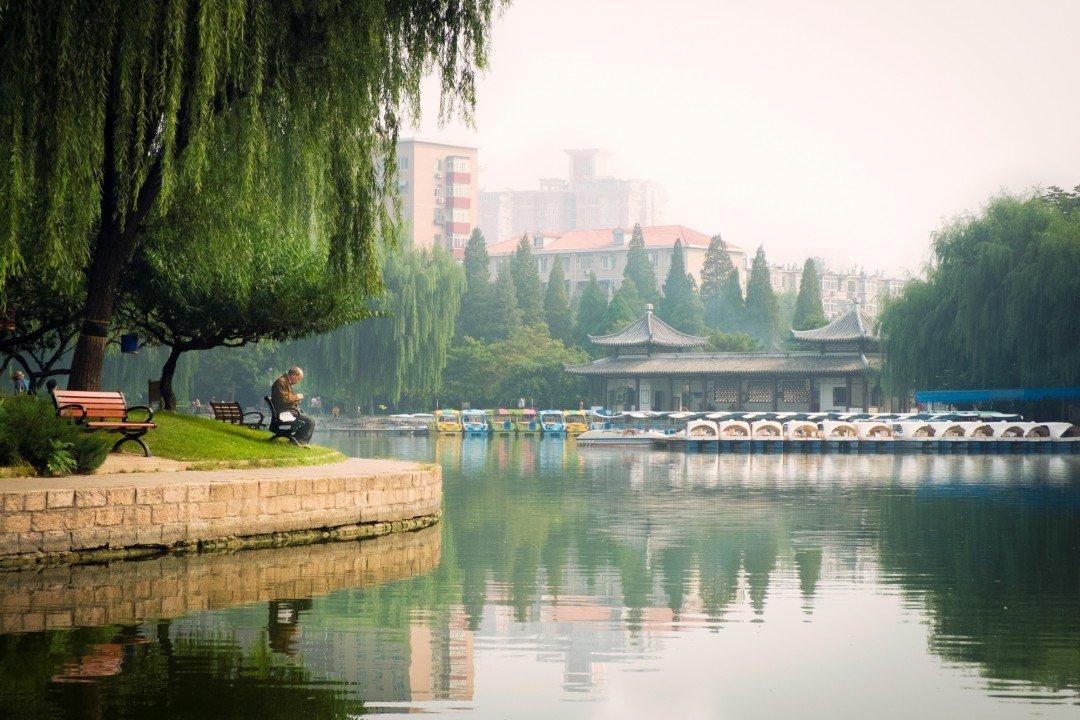 Tuanjiehu Park in Beijing China