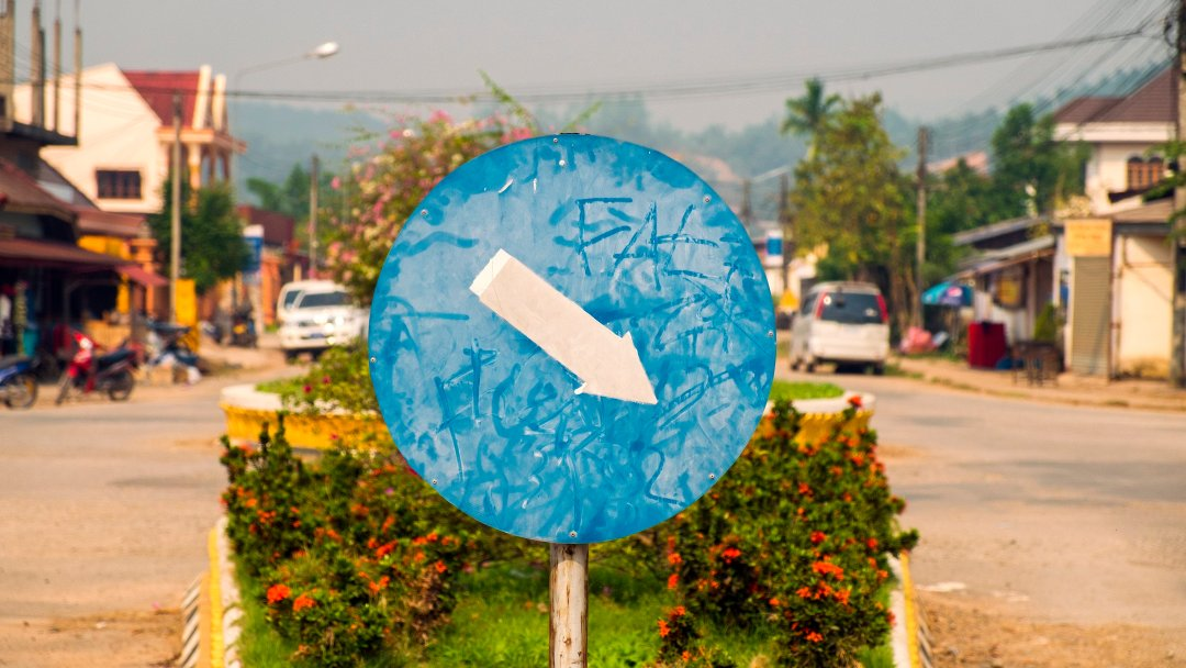 Photo of street sign in Luang Namtha, Laos