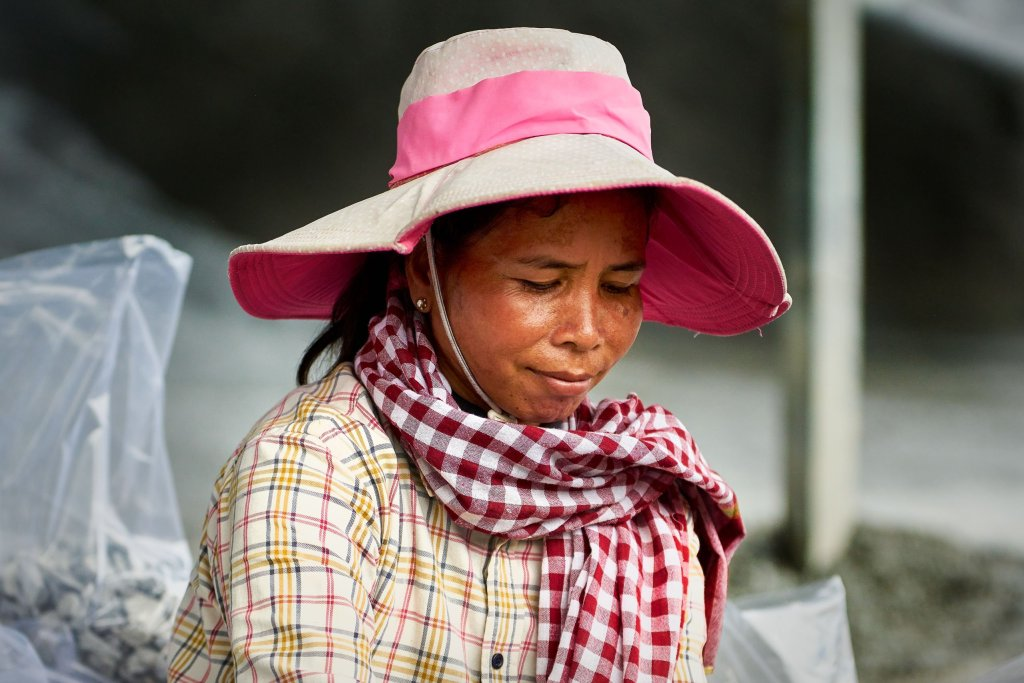 Portrait of a Cambodian Woman by humanitarian photographer Bryon Lippincott