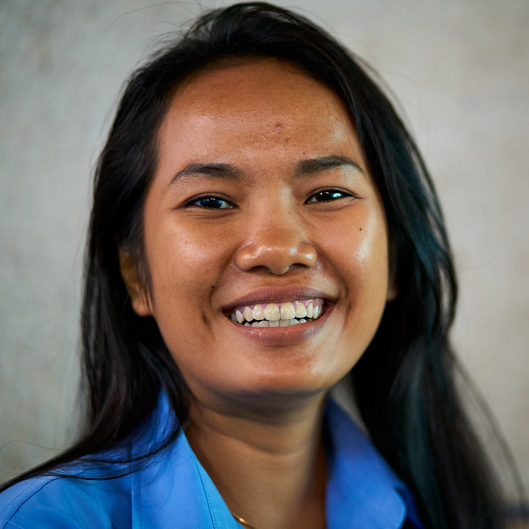 Photo of New Life School sponsorship assistant Ms. Pich Thavin.
