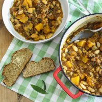 Pumpkin, Bean and Lentil Stew