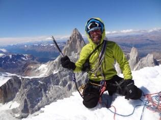7. Marcin Wernik na szczycie Cerro Torre