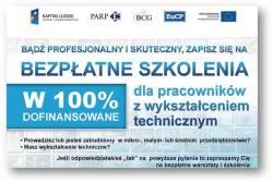 PROFESJONALNI I SKUTECZNI - bezpłatne szkolenia dla osób z wykształceniem technicznym