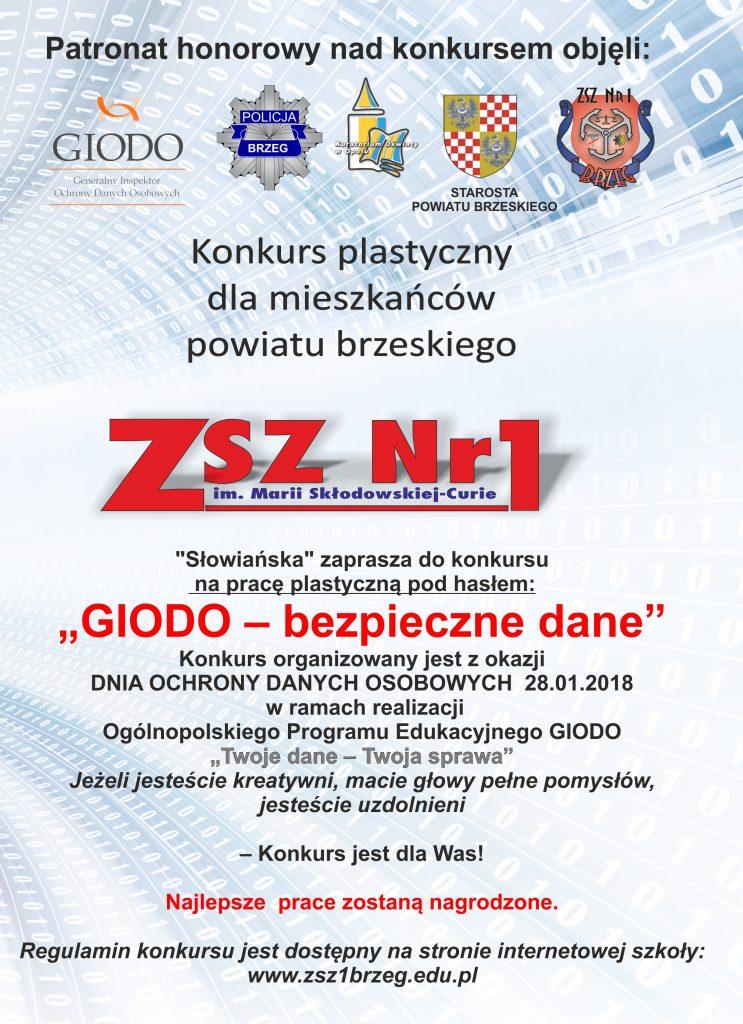 """Konkurs plastyczny """"GIODO – bezpieczne dane"""""""