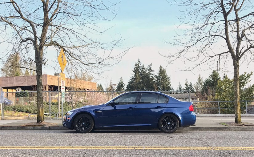 BMW M3 Sedan E92 on Street in Multnomah Village Oregon Portland