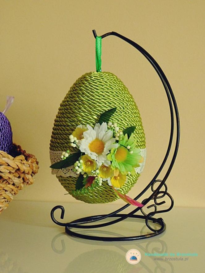 zielone jajko wielkanocne diy