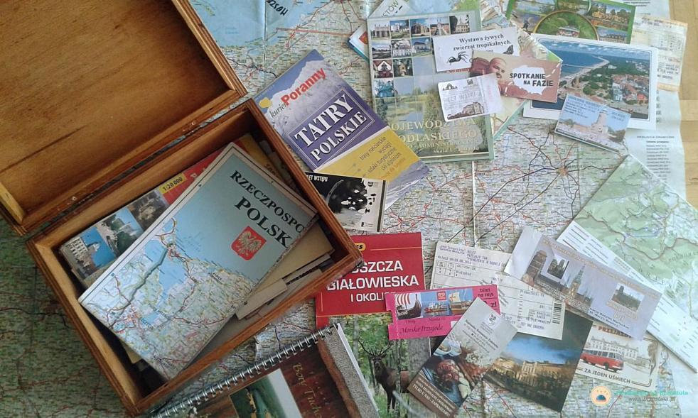 kuferek na pamiątki z podróży diy