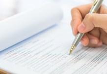 wniosek, dokument, długopis, kartka papieru