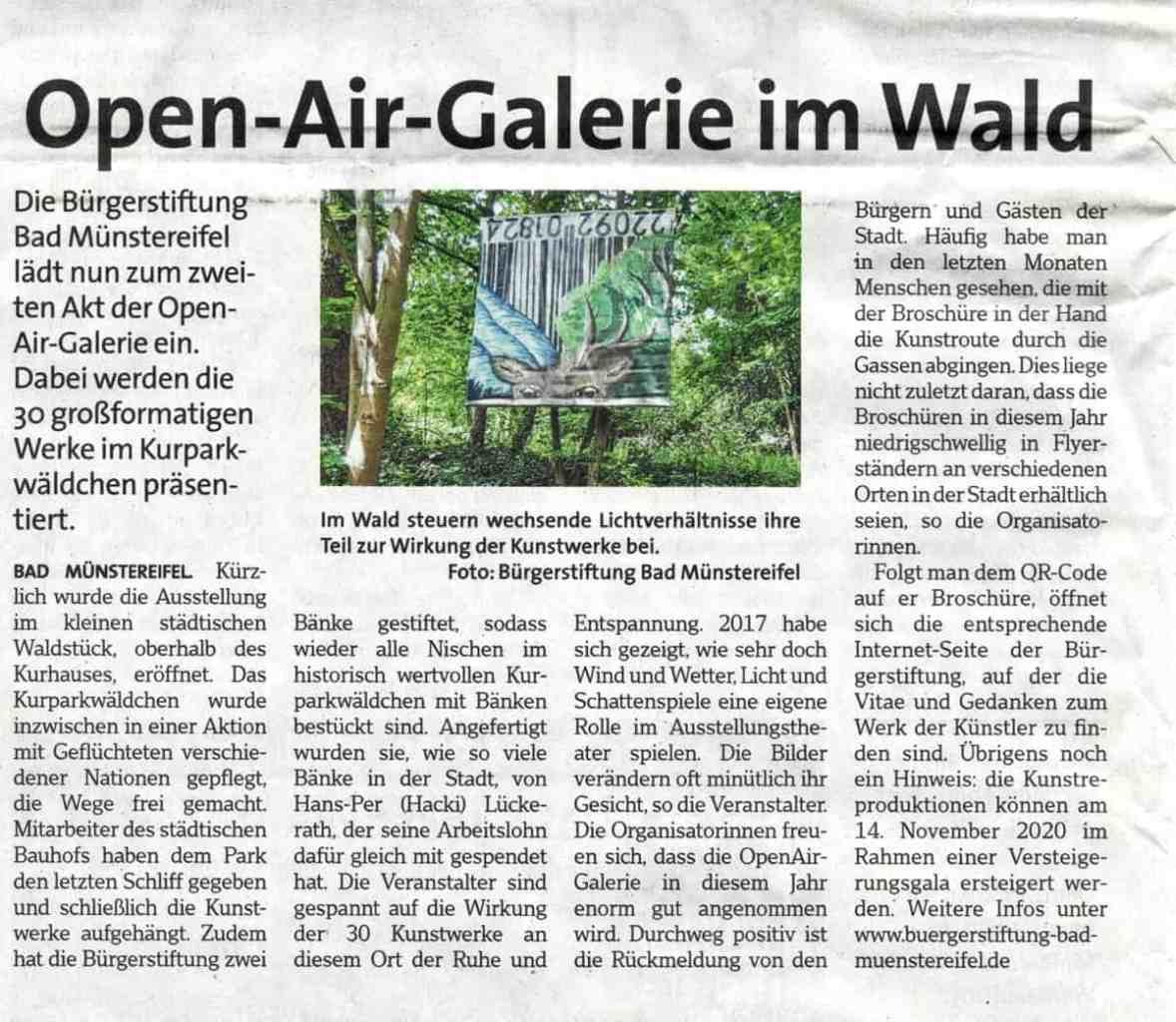 Wochenspiegel zur OpenAirGalerie 2020