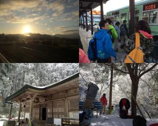 【金剛山】山頂部には葛木神社と茶店がある。