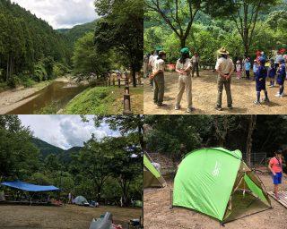 【設営】キャンプを設営、日陰を作るのは重要!!