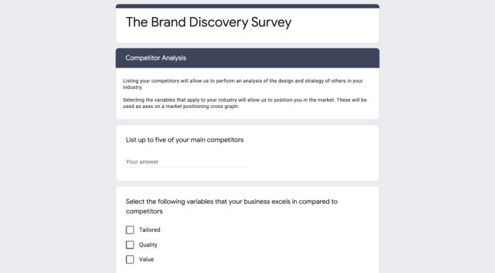 Brand strategy development