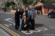 Kleines Gruppenfoto bei einem Stopp auf dem Weg nach Dublin.