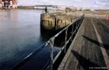 Auch nach über 90 Jahren hindert das Tor des Trockendocks das Wasser des Lagan am Eindringen.