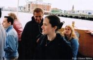 Ioannis Georgiou, Werner Steckling, Brigitte Saar und Stefanie Spieker auf der Hafenrundfahrt.