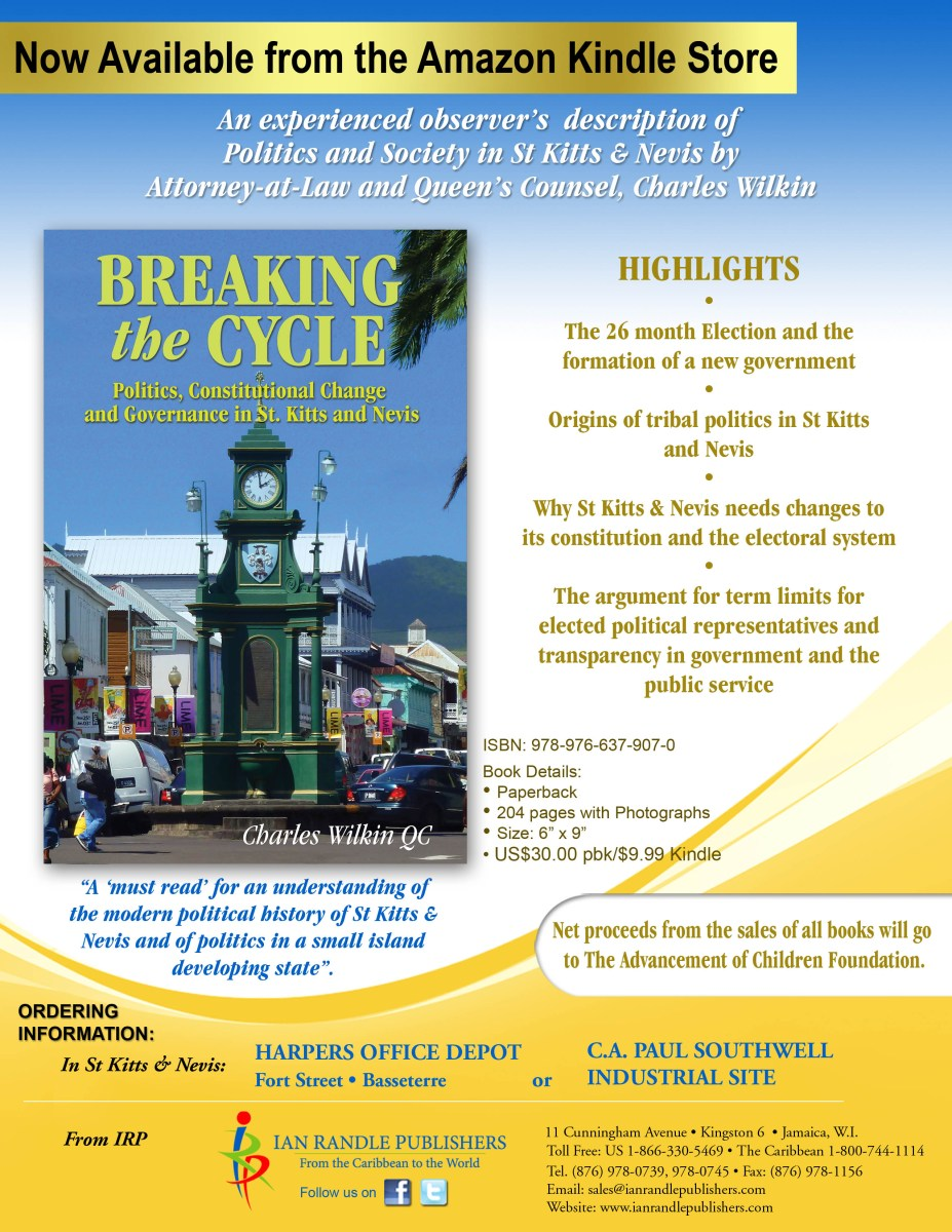 NEW BOOK by Charles Wilkin QC: BREAKING the CYCLE: Politics, Constitution Change and Governance in St. Kitts and Nevis