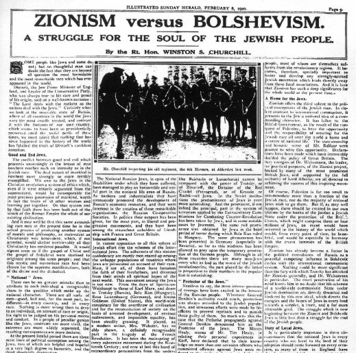 Zionism vs Bolshevism by Winston Churchill