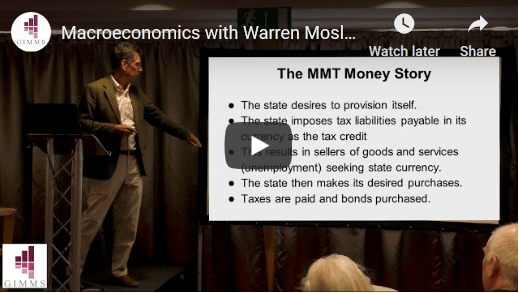 Macroeconomics with Warren Mosler, Bill Mitchell and Martin J Watts, Birmingham - 11th May 2019