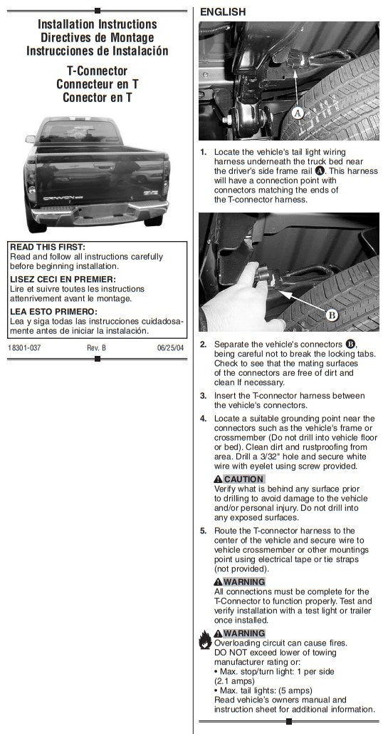 Trailer Hitch Wiring Tow Harness For Chevrolet Colorado