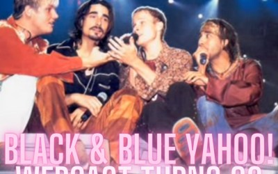 20 Years Ago Today, We watched a @backstreetboys concert live on Yahoo!