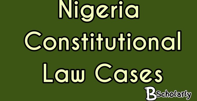 National Assembly v President of the federal republic of Nigeria