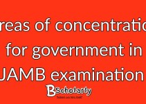 areas of concentration for government in JAMB