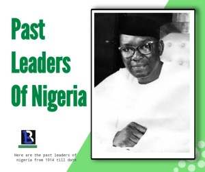 how many leaders have Nigeria had since independence
